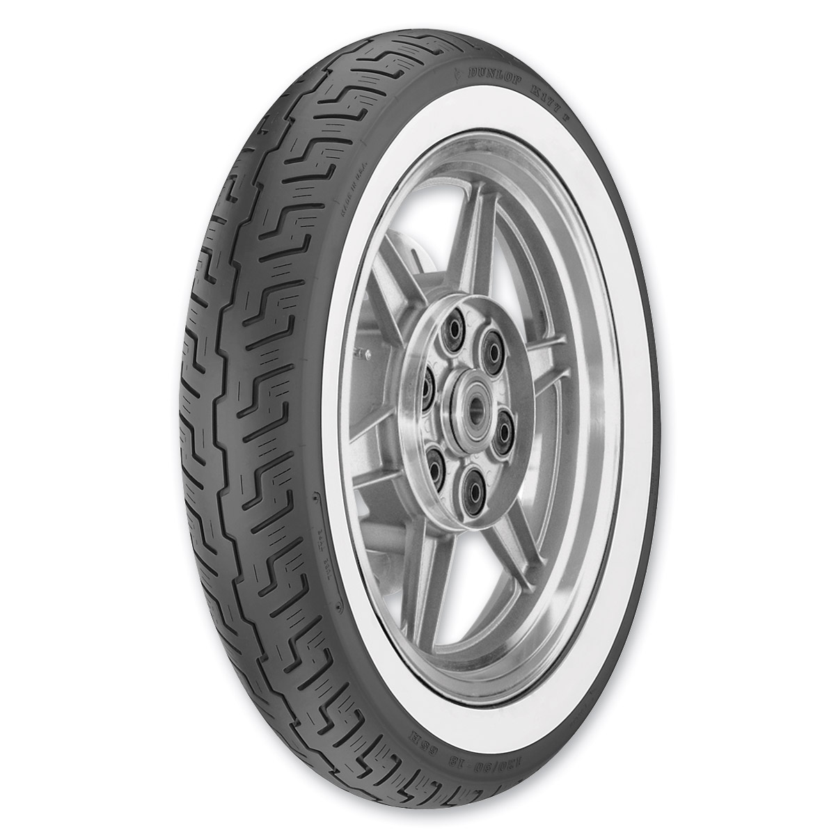 Dunlop K177 120/90-18 Wide Whitewall Front Tire