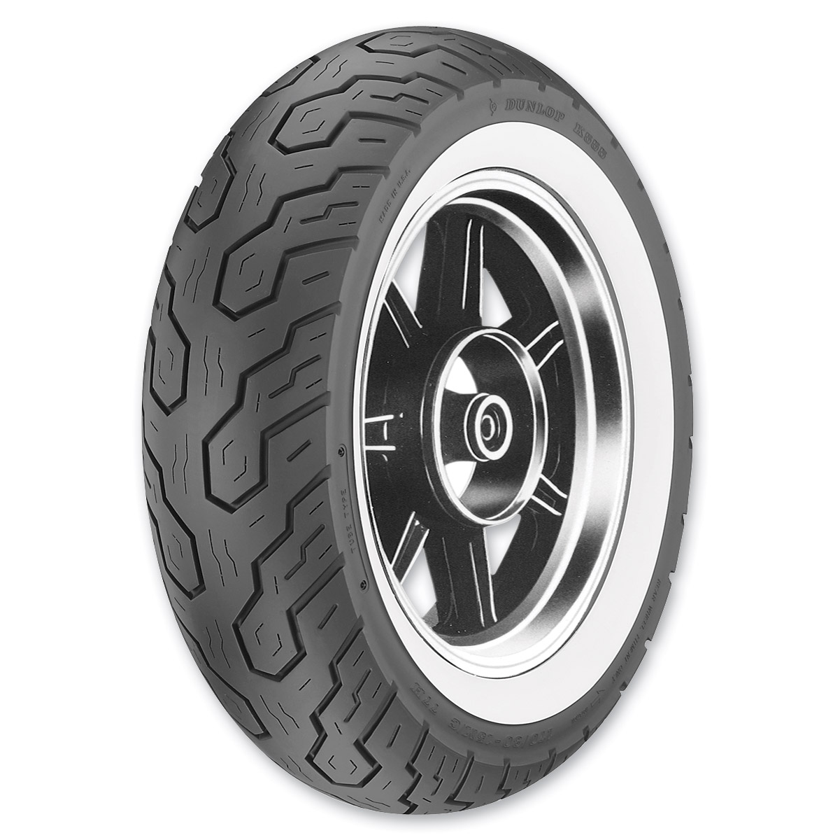 Michelin Whitewall Tires >> Dunlop K555 170 80 15 Wide Whitewall Rear Tire 45941232