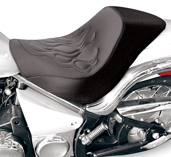 Saddlemen Renegade Deluxe Tattoo Flame Solo Seat