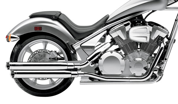 Cobra 3″ Chrome Slash-Cut Slip-On Mufflers with Billet Tips