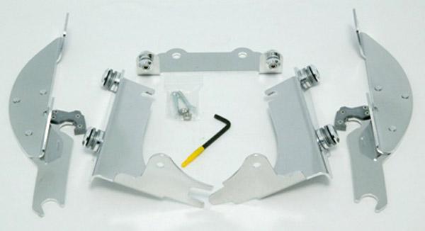 Memphis Shades Batwing Fairing Polished Trigger Lock Mount Kit
