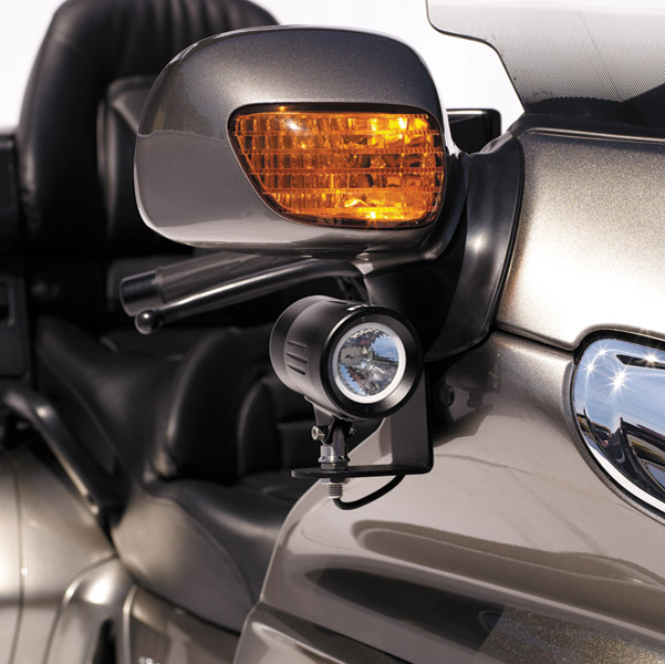 PIAA Powersports Mirror Mount Lamp Bracket for Gold Wing GL1800