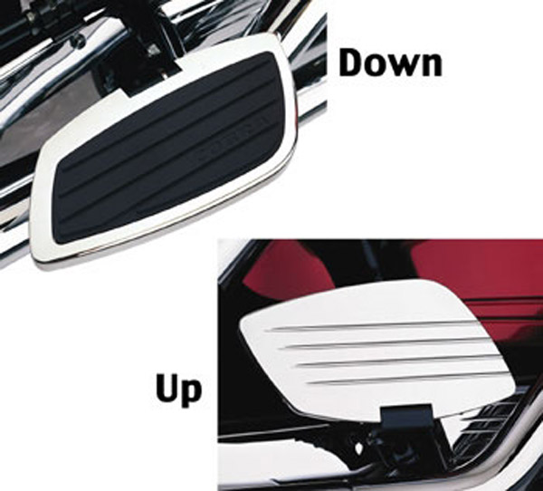 Cobra Chrome Swept Passenger Floorboards for Yamaha Stryker