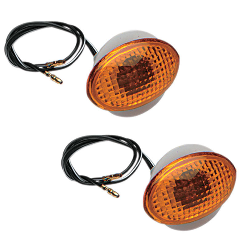 K&S Small Flat Oval Flush Mount Marker Lights