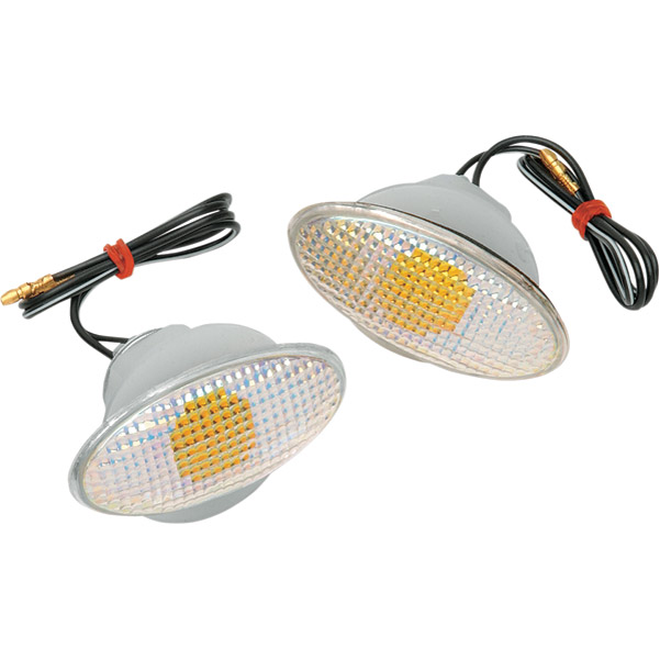 K&S Large Flat Oval Flush Mount Marker Lights