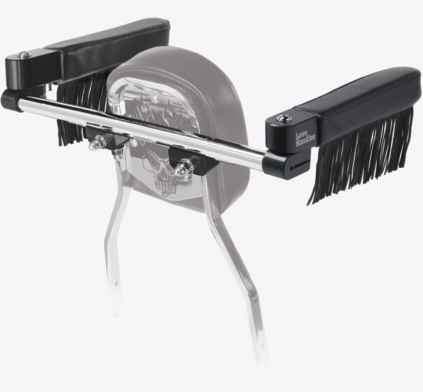 Love Handles Chrome with Fringe Arm Rest for Cobra Rectangle Backrest