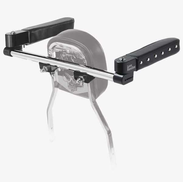 Love Handles Chrome with Studs Arm Rest for Cobra Rectangle Backrest