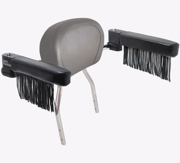 Love Handles  Chrome with Fringe Arm Rest for Cobra Round Backrest