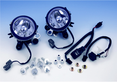 Show Chrome Accessories Lower Blue Lens Fog Light Kit