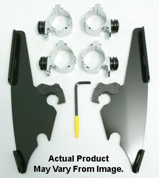 Memphis Shades Fats/Slims/Batwing Fairing Black Trigger Lock Mount Kit