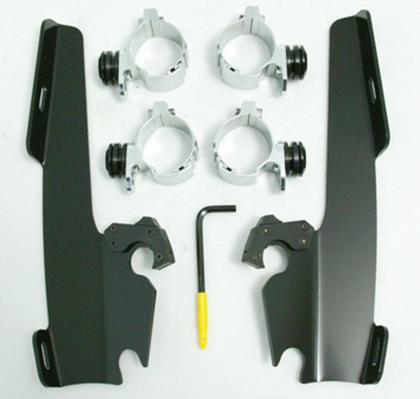 Memphis Shades Fats/Slims Black Windshield Mounting Kit