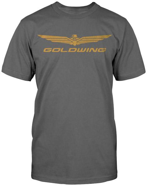 Honda Mens Gold Wing Corporate Charcoal T Shirt