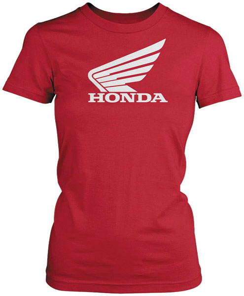 Honda Women's Big Wing Red T-shirt