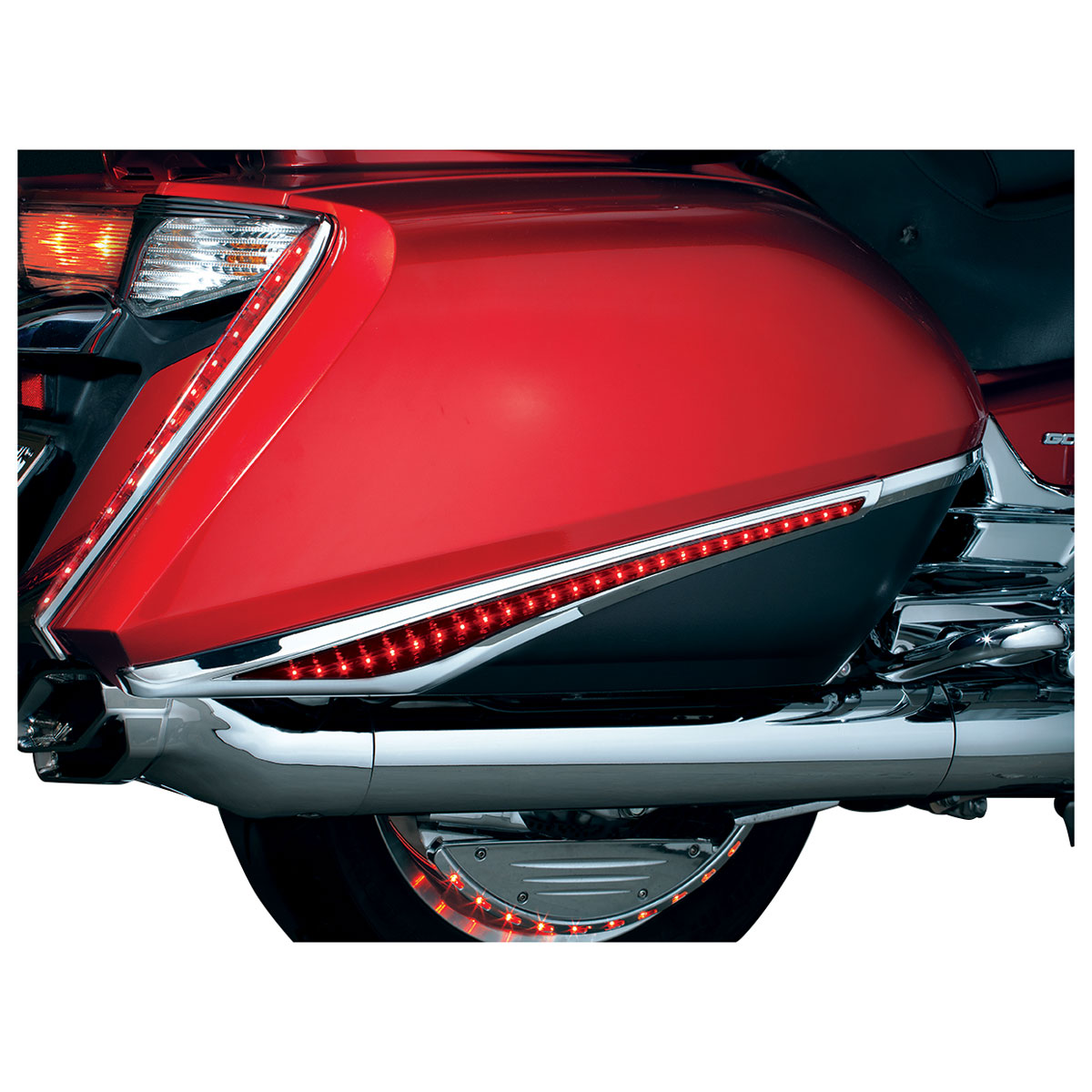 Kuryakyn Saddlebag Accent Swoops with LED Lights for GL1800 and F6B Gold Wing