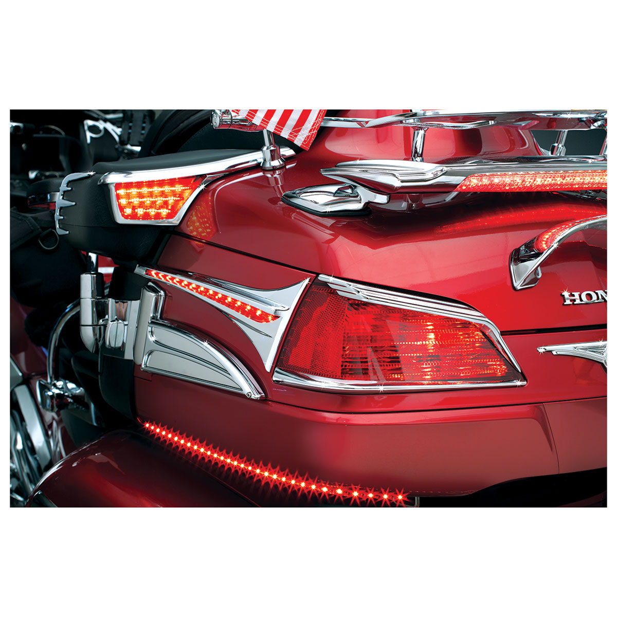 Kuryakyn Trunk Accent Swoops with LED Lights for GL1800 Gold Wing