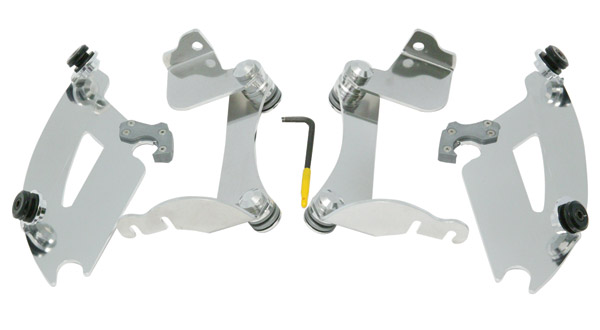 Memphis Shades Bullet FX Fairing Polished Trigger-Lock Mount Kit