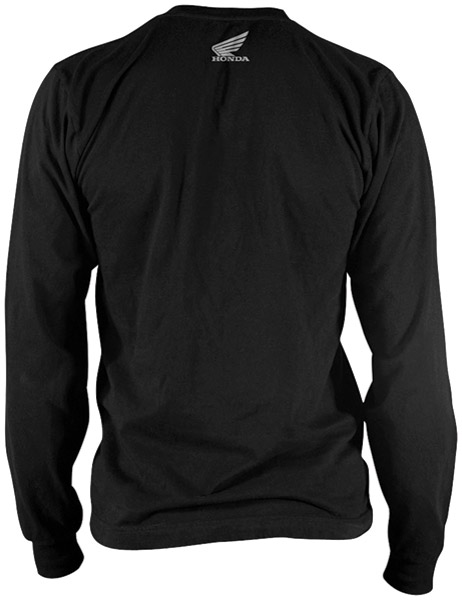 Honda Men's VTX Customs Black Long-Sleeve T-shirt