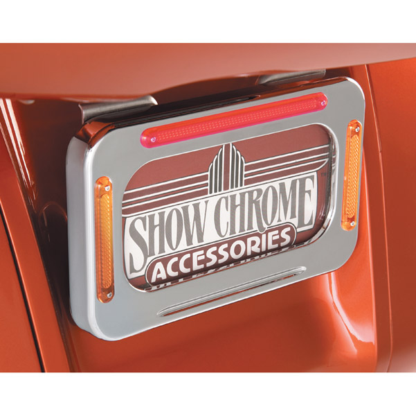 Show Chrome Accessories LED License Plate Holder