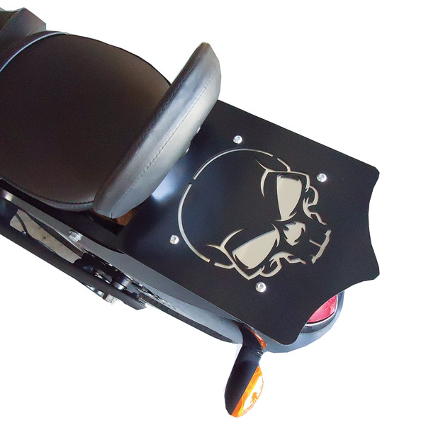 BDD Custom Black Skull Luggage Rack for Victory Factory Backrest Models