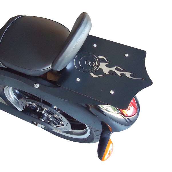BDD Custom Black 8-Ball Luggage Rack for Victory Factory Backrest Models