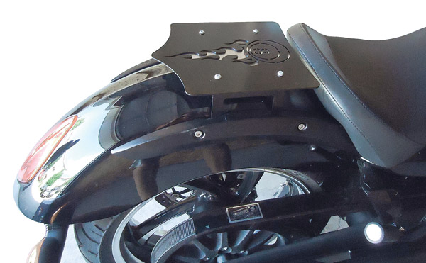 BDD Custom Black 8-Ball Luggage Rack for Victory Solo Seat Models
