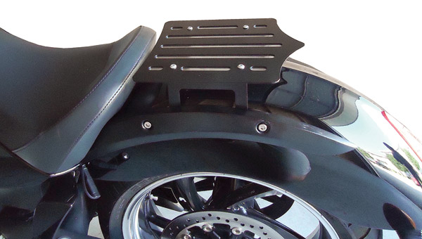 BDD Custom Black Slot Luggage Rack for Victory Solo Seat Models