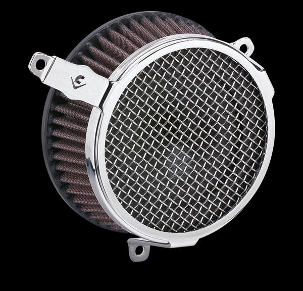 Cobra Air Cleaner : Cobra powrflo air cleaner kit chrome round zz j p