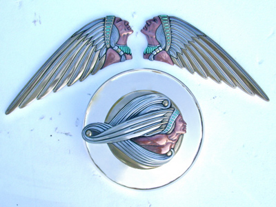 Zambini  Native American Tank Emblems and  Brave Spirit Air Cleaner Insert