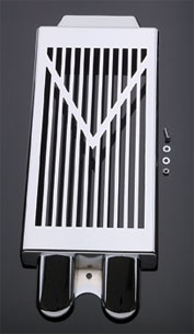 Show Chrome Accessories V-Style Radiator Grille for Suzuki VL800/C50/M50
