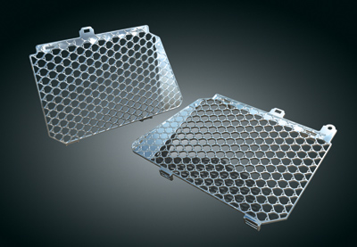 Kuryakyn Chrome Shark Skin Radiator Grate