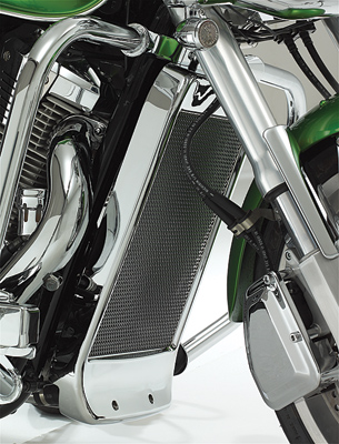 Show Chrome Accessories Mesh Radiator Grille for VTX1800