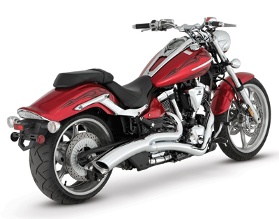 Vance & Hines Big Radius 2-into-1 Chrome Exhaust
