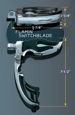Kuryakyn Flamin' Switchblade Pegs Male Mount