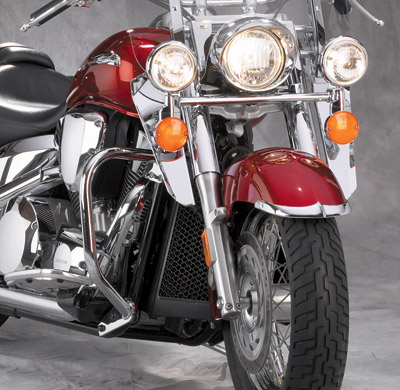 National Cycle Chrome Front Fender Tip Set for VTX1800R/S