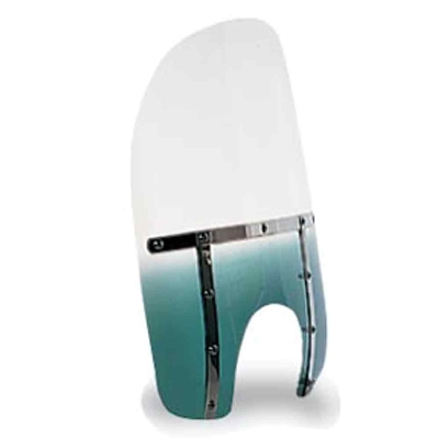 Memphis Shades Memphis Fats 21″ Tall Gradient Teal Windshield 9″ Headlight