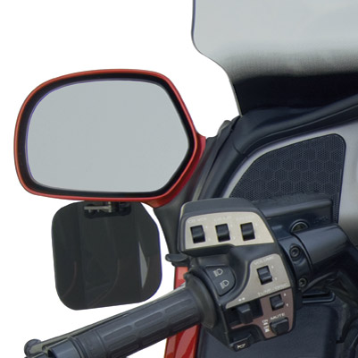 National Cycle Dark Tint Mirror Mount Wing Deflector for GL1800