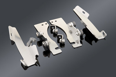 Memphis Shades Batwing Fairing Polished Trigger-Lock Mount Kit