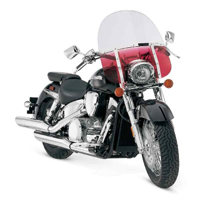 Memphis Shades Memphis Fats 19″ Tall Gradient Ruby Windshield 11″ Headlight
