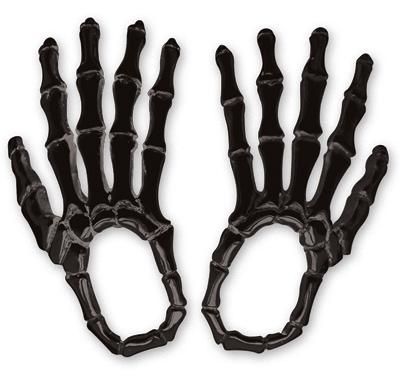American Cycle Accessories Skeleton Hand Mirror Covers