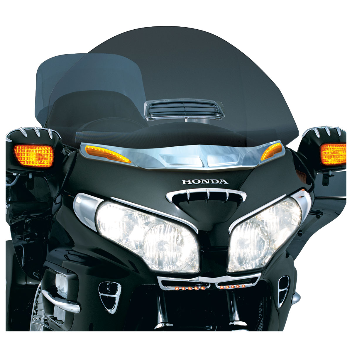 Kuryakyn Windshield Trim with Turn Signal Accents for GL1800 Gold Wing