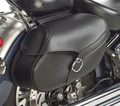 Willie & Max Revolution Series Belted Small Hard Mount Saddlebags