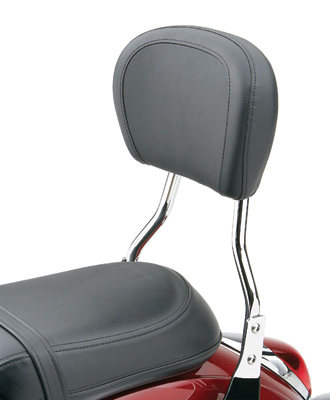 Cobra Short Round Sissy Bar with Pad