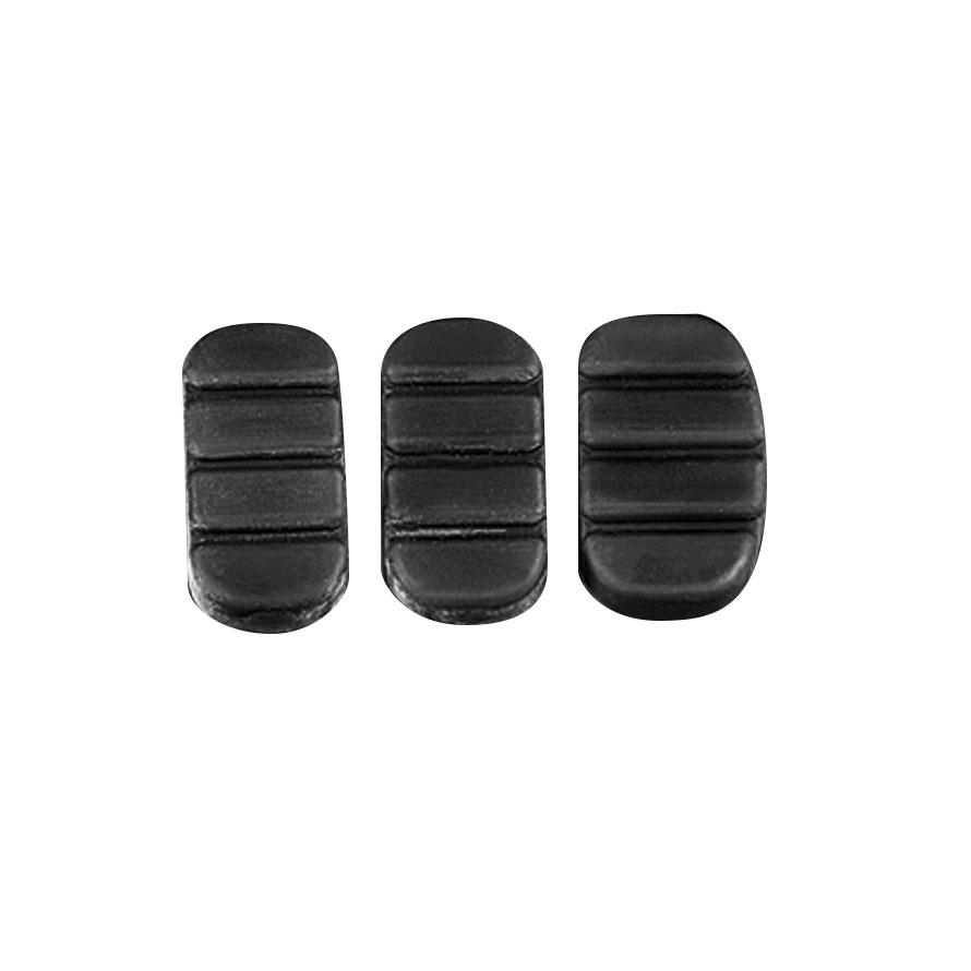 Kuryakyn 8082 Replacement Rubber Pad for Rear Brake Pedal, Set of 3